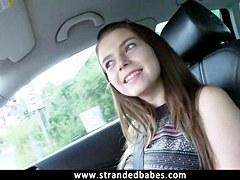 Non-Professional legal age teenager Marina Visconti public fuck with stranger fellow