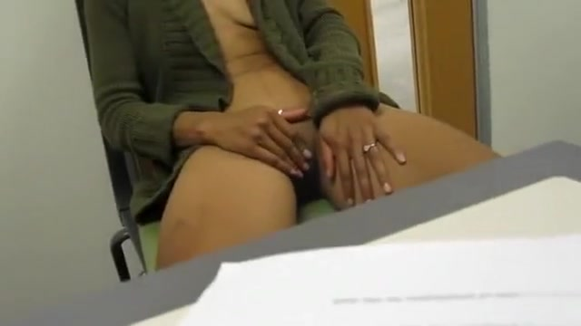Striptease in the office for my viewing pleasure