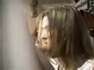 Long-Haired Cutie Gets On All Fours To Give Head By The Poo