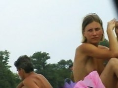 Hot beach candid babes, naked, caught on camera