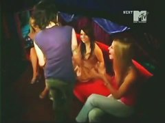 Celebrity candid upskirts on MTV show