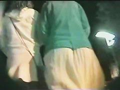 Teen beauties in wavy skirts arousing men around them