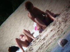 Genius beach voyeur video of girls spreading their legs