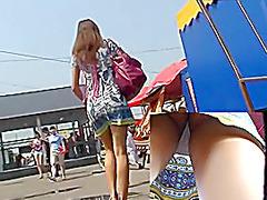 Hidden cams upskirt footage