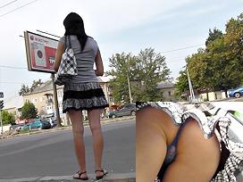Street upskirt photos