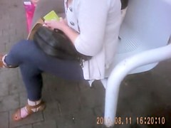 Blonde cutie adorable downblouse quickly was spied