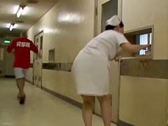 Chubby nurse got her horny bottom sharked in the corridor