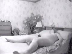 Chubby mature masturbates on cam