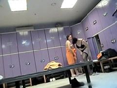 Black lingerie amateur on dressing room voyeur cam