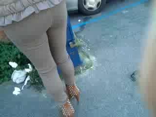Milf ass at parking