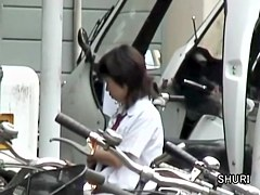 Pretty looking schoolgirl got in touch with sharking shuri