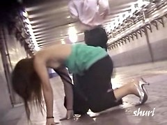 Slender Japanese girl gets her blouse sharked