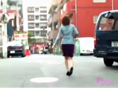 Skirt sharking video featuring a sweet Japanese babe
