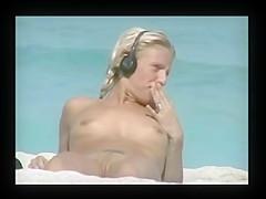Voyeur TROC Spying Flatchest Beauty on Beach