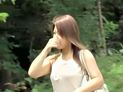 Adoring Asian brunette having sharking odyssey when she didn.t expected