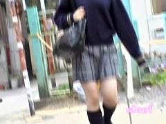 Fragile teenage Asian schoolgirl gets easily fooled by creative sharking guy