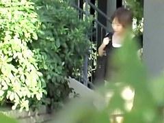 Slender stunning Japanese bimbo loses her underwear during sharking attack