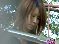 Astonishing brown-haired Japanese darling gets pulled into some sharking odyssey