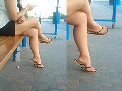 Sexy feet hidden cam have hit
