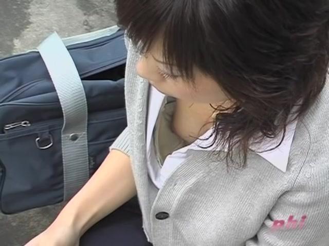 Asian girl downblouse