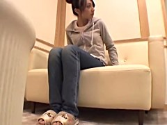 Delicious Jap banged and creamed in voyeur massage video