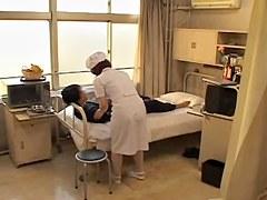 Adorable naughty nurse nailed hard in Japanese sex movie