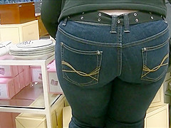 Milf ass in tight jeans