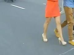 Ukraine 14  4 beautiful legs, blue and beige heels