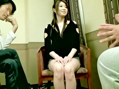Busty Jap gets a creampie in perverted Asian sex video