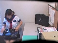 Slutty Jap chavette enjoys hardcore banging on spy camera