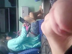 spy pantyhosed milf on the bus
