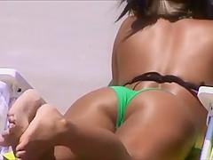 candid two hot sexy asians beach crotch shot 149, nice ass