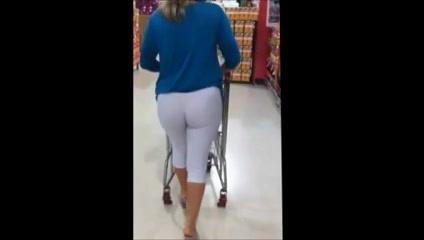 White leggins milf by bootyhunterr