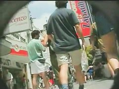 Sexy upskirt video tape of some babes on public