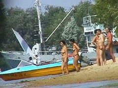 Mature beach nudist women not afraid to show everything they got