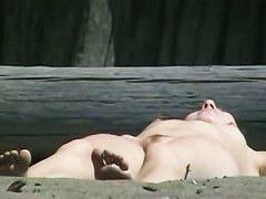 Public nudist voyeur shaved pussy