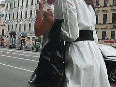 Voyeur up skirt video features a hot classy girl.