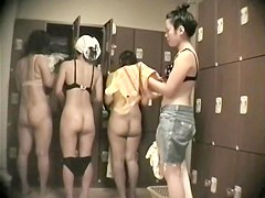 Girls change locker room nude has