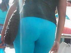 spandex blue ajustados
