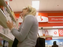 Milf shopping candid, justine pussy