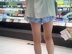 Beautiful woman of erotic short pants