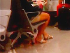 Feet in an airport
