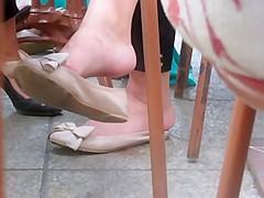 Interracial heel grabber