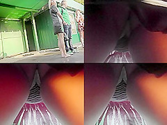Hottie takes part in upskirt video with her boyfriend