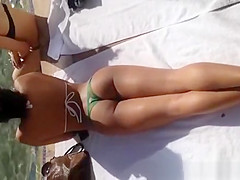 Hot ass babe by the pool