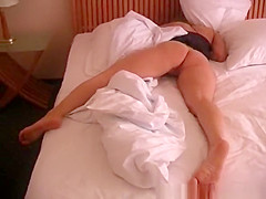 Girlfriend taped in bedroom