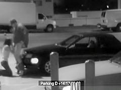 Parking lot security blowjob