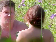 Outdoor sex in the nature