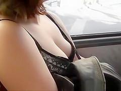 Big boobs in neckline
