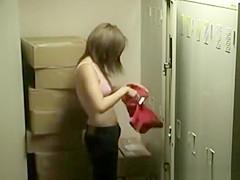 Female hotel staff locker room